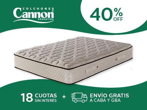 Colchón Cannon Sublime 190x140 Resortes 2 Plazas