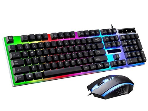 Kit Gamer Teclado Y Mouse Retroiluminado Combo Led G21 Usb