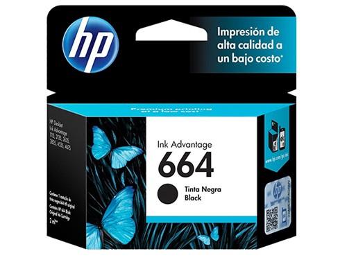 Cartucho Hewlett Packard 664 Negro