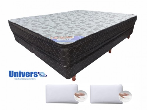Combo Colchon Inner Pillow Universo 140x190 + Almohadas Viscoelástica