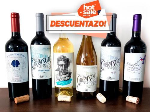 Pack de Vinos x6, Cabernet Sauvignon, Blanco, Chardonnay, Malbec