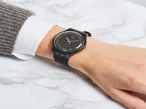 Reloj Swatch Darksparkles SUOB156 Original 3 Atm