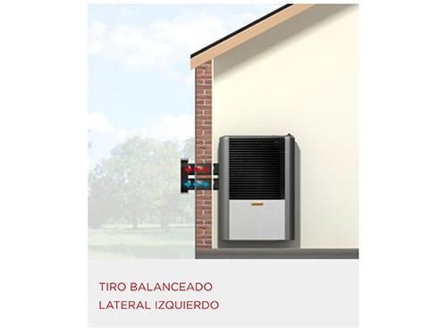 Calefactor Tiro Balanceado Coppens 2500 kcal Peltre II Acero Izquierdo