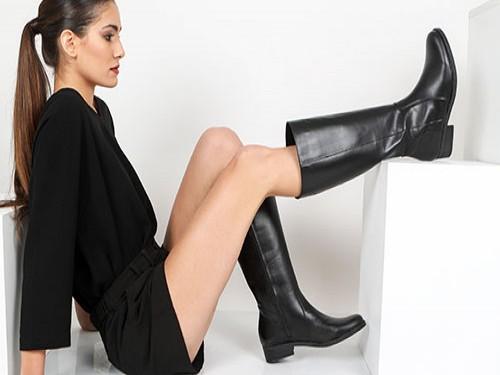 Bota Caña Alta Mujer Cuero Briganti Zapato Negro Chicago