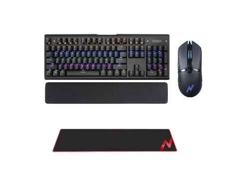 Combo Kit Gamer Teclado Mecanico Mouse 7bot USB  Pad 4en1 Noga Nkb-408
