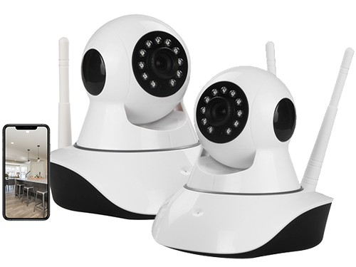 Kit Camaras De Seguridad Ip X2 Wifi Inalambrica Espia Envio