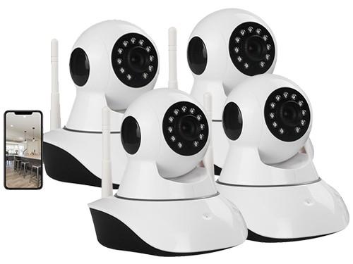Kit X4 Camara Seguridad Ip Wifi Inalambrica Microfono Video