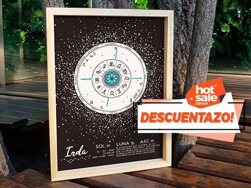 Cuadro Decorativo Carta Astral 30x4ocm - Astrología