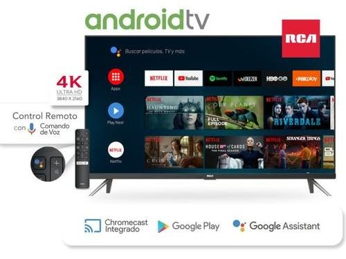 Smart Tv 50 4K RCA Android control por voz X50ANDTV