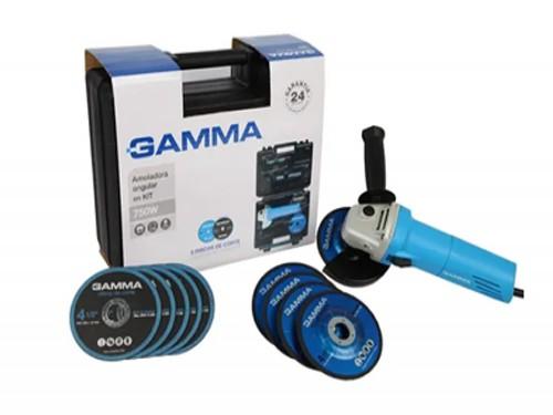 Kit Amoladora Angular 750w G1910kar + Estuche Y Acc Gamma