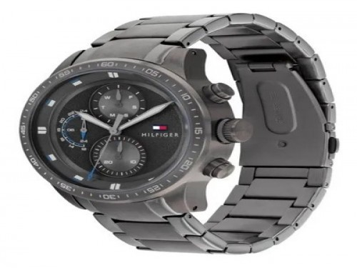 Reloj Tommy Hilfiger Trent 1791806 Original Inoxidable 5 Atm