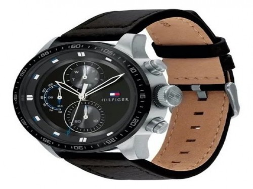 Reloj Tommy Hilfiger Trent 1791810 Original Cuero 5 Atm