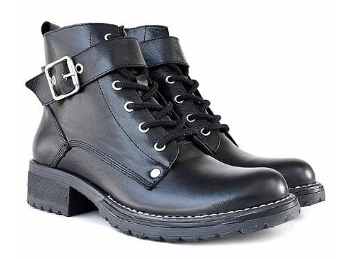 Borcego Mujer Cuero Briganti Bota Zapato Negro Volta