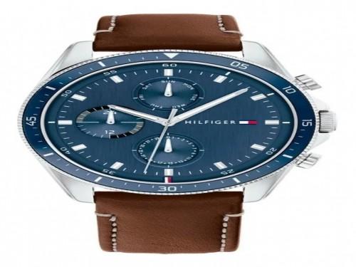 Reloj Tommy Hilfiger Parker 1791837 Original Cuero 5 Atm