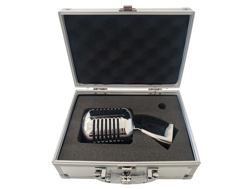 Microfono Vintage Retro Con Maletin 6.3plug Karaoke Zinc