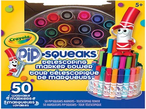 Mini Marcadores Crayola Pip Squeaks T Oficial Torre X 50 Colores