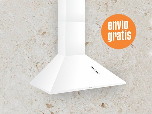 Campana de Cocina Llanos Classic Pulsante 75 cm Blanca
