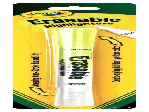 Resaltador Borrable Crayola color amarillo