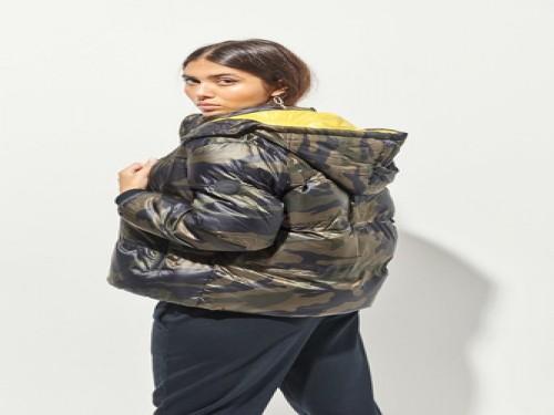 Campera Layer Camo Con Capucha Camuflada Mujer 47street
