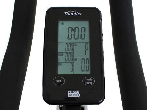 Bicicleta indoor profesional hasta 130 kg. Fitage Thunder 690