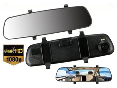 Espejo Retrovisor Camara Dvr Frontal Trasera 1080 170º 4.3