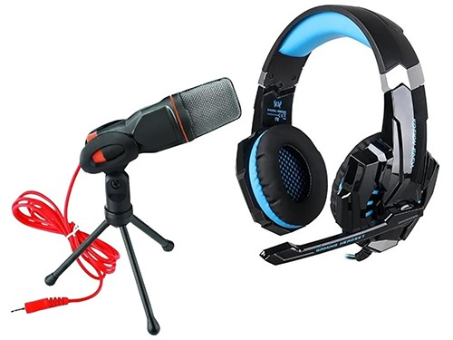 Auriculares Gamer Kotion Each G9000 + Microfono Gamer De Pie