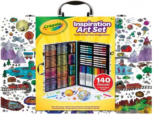 KIT CRAYOLA INSPIRATION ART CASE x140