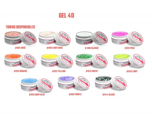Combo 3 Gel Glitter+3 Gel 4D +2 Gel Paint +Pincel + Mantel Cherimoya