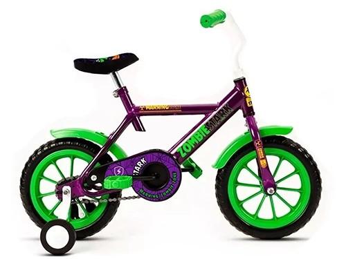 Bicicletas Nenes Rodado 12 Infantil Rueditas Stark Zoombies