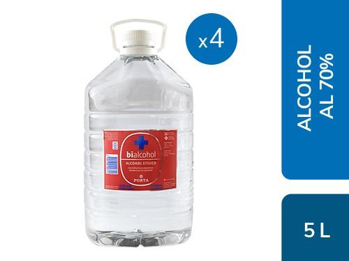 Caja x4 Alcohol al 70% 5L Bialcohol