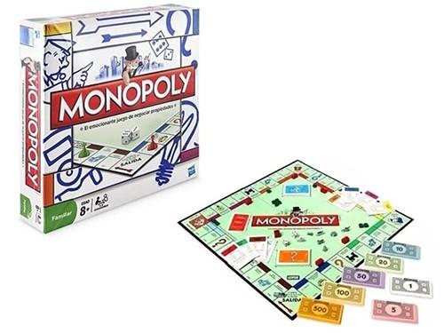 Juego De Mesa Monopoly Hasbro Original Casa Tablero Familiar