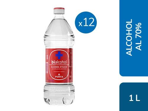 Caja x12 Alcohol al 70% 1L Bialcohol