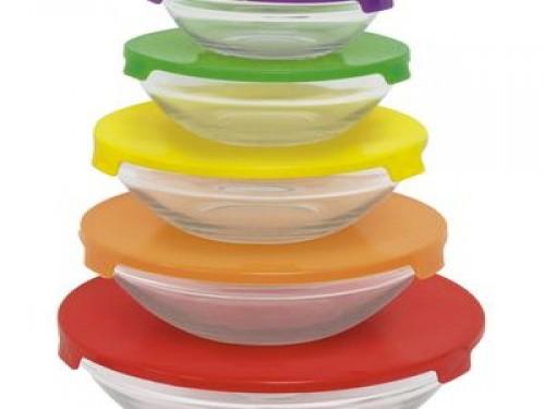 Set de 5 bowls tapa mix Carol (3031)