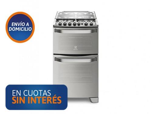 Cocina Electrolux 56DXQ Inox doble horno (ele/gas)
