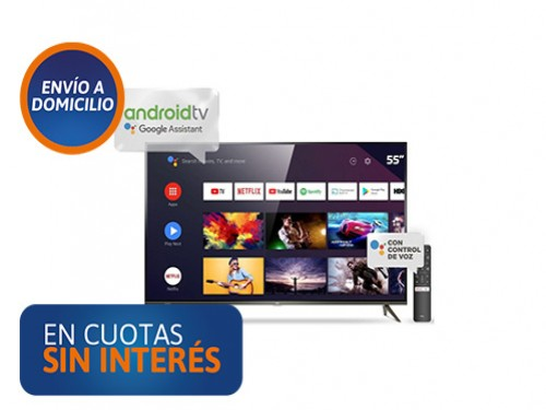 """Smart Tv 55"""" TCL L55P8M 4K UHD Android"""