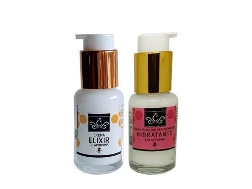 Cemas con Apitoxina, Facial Hidratante 30g y Elixir de Apitoxina 30g