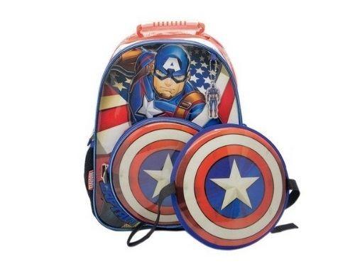 Mochila A Espalda Capitan America Con Escudo Marvel Cresko