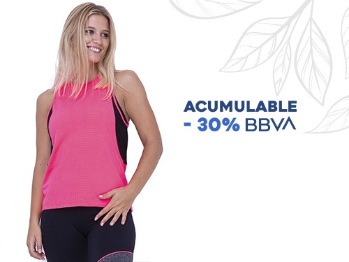 Musculosa Deportiva Microfibra liviana con detalles microtul Helen