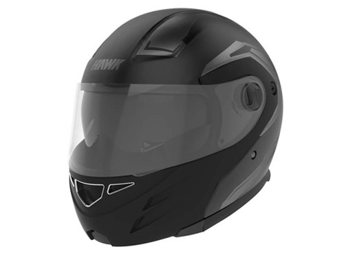 Casco Moto Modular Hawk Rs5 Vector Negro Rebatible Doble Visor