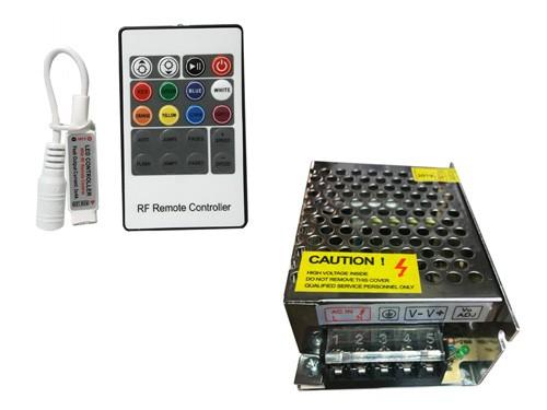 BARRA SUMERGIBLE 30 CM RGB + CONTROLADOR RGB  + FUENTE  GREEN SHOP