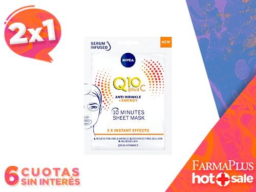 NIVEA Máscara de Papel Q10 Plus-C Shot Anti-Fatiga 1un  2x1
