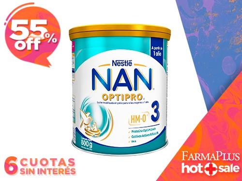 Nestle NAN 3 Optipro Leche en Polvo 800 gr