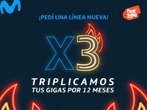 Línea Nueva - Triplicá Gigas - 15 GB al precio de 5 GB por 12 meses