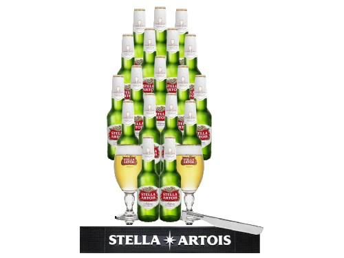 Pack 18 Cervezas Stella Artois y Accesorios