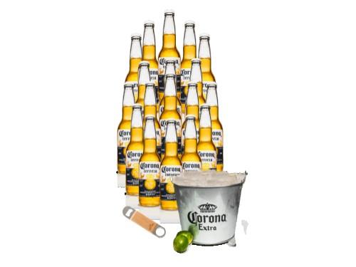 Pack 18 Cervezas Corona con Destapador y Frapera