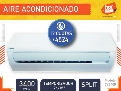 Aire Acondicionado  CY3400, Split, frio/calor, (on/off), 3400W, Candy