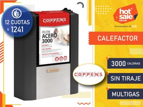 Calefactor 3000 calorías  Sin Tiraje Acero Multigas Coppens