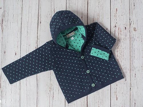 Saco con capucha para bebé tejido en dralon azul/rosa/celeste/fucsia