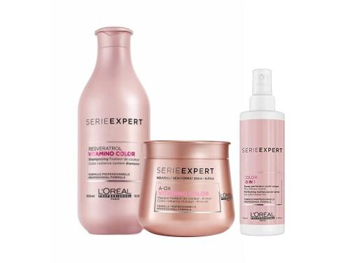 Loreal Professionnel -Vitamino Color Shampoo 300ml + Mascara y 10 en 1