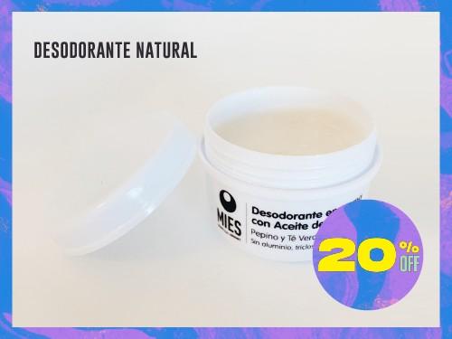 Desodorante natural MIES (sin: aluminio, triclosán ni parabenos)